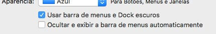 Exemplo de checkbox no OSx