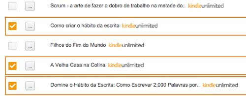 Exemplo de checkbox no site da Amazon