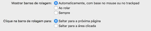 Exemplo de radio button no OSx